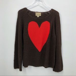 Wildfox White Label Red Heart Sweater